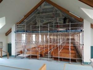 Remodeling scaffolding interior set up