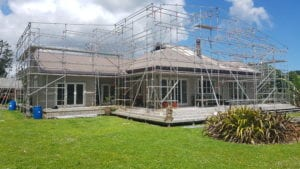 Renovation and new build scaffolding set up