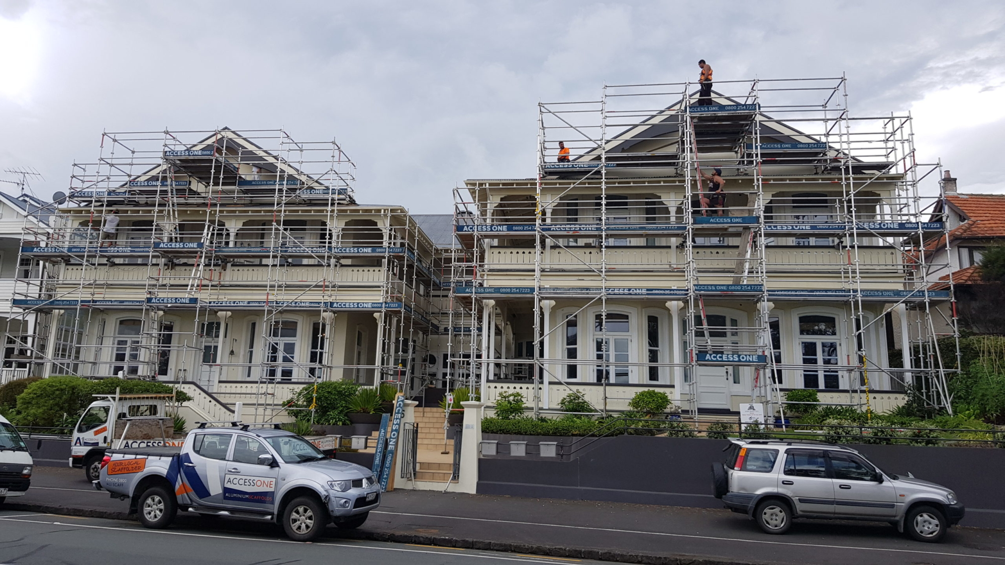 Residential Scaffolding set up by Access One in Auckland
