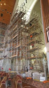 Holy Trinity Church Cathedral interior scaffolding by Access One